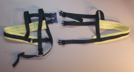 Forest Green Harness w/ Yellow Padding