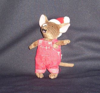 Country Christmas Mouse Stuffed Animal