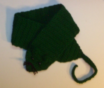 Dec 2011 Forest Green Rattie Scarf